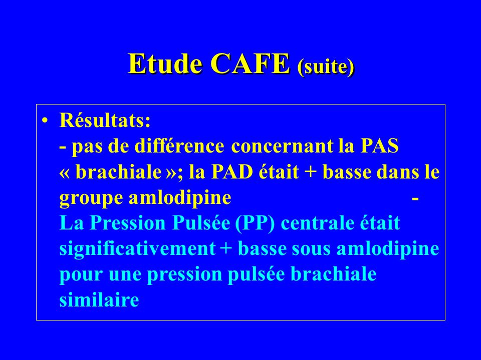Etude CAFE (suite)
