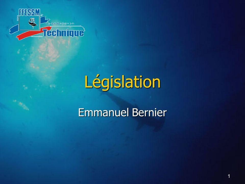 Législation Emmanuel Bernier