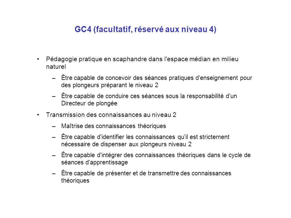 GC4 (facultatif, réservé aux niveau 4)