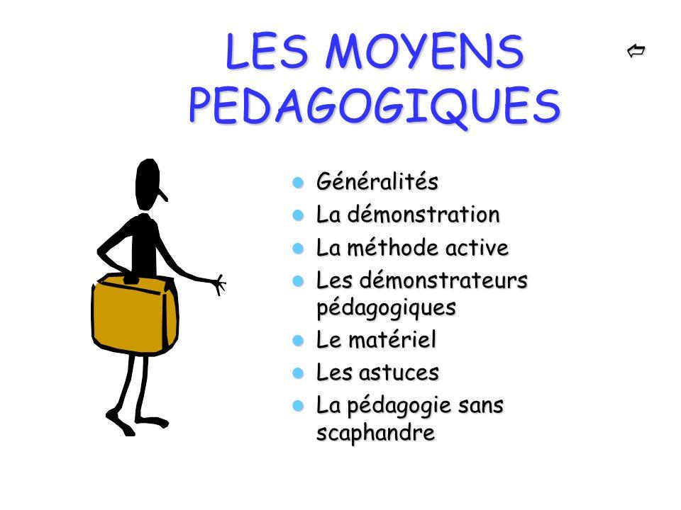 LES MOYENS PEDAGOGIQUES