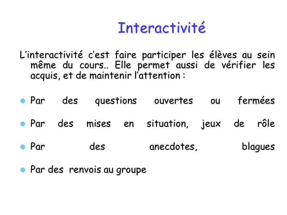 Interactivité