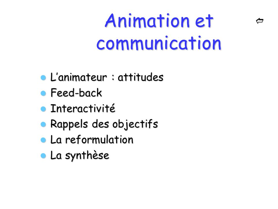 Animation et communication