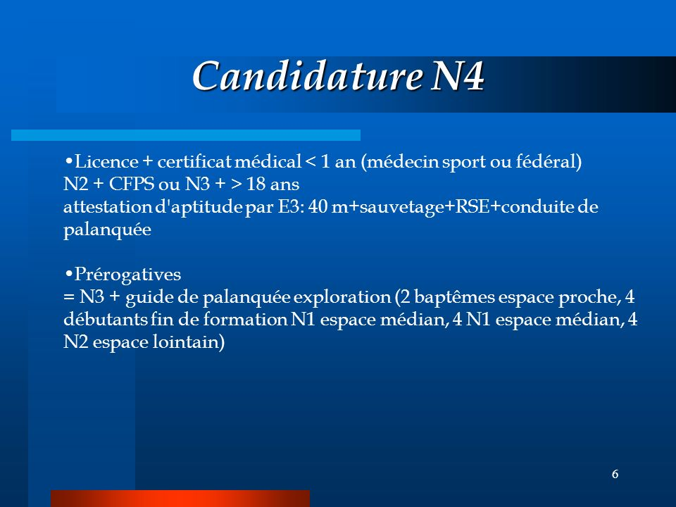 Candidature N4