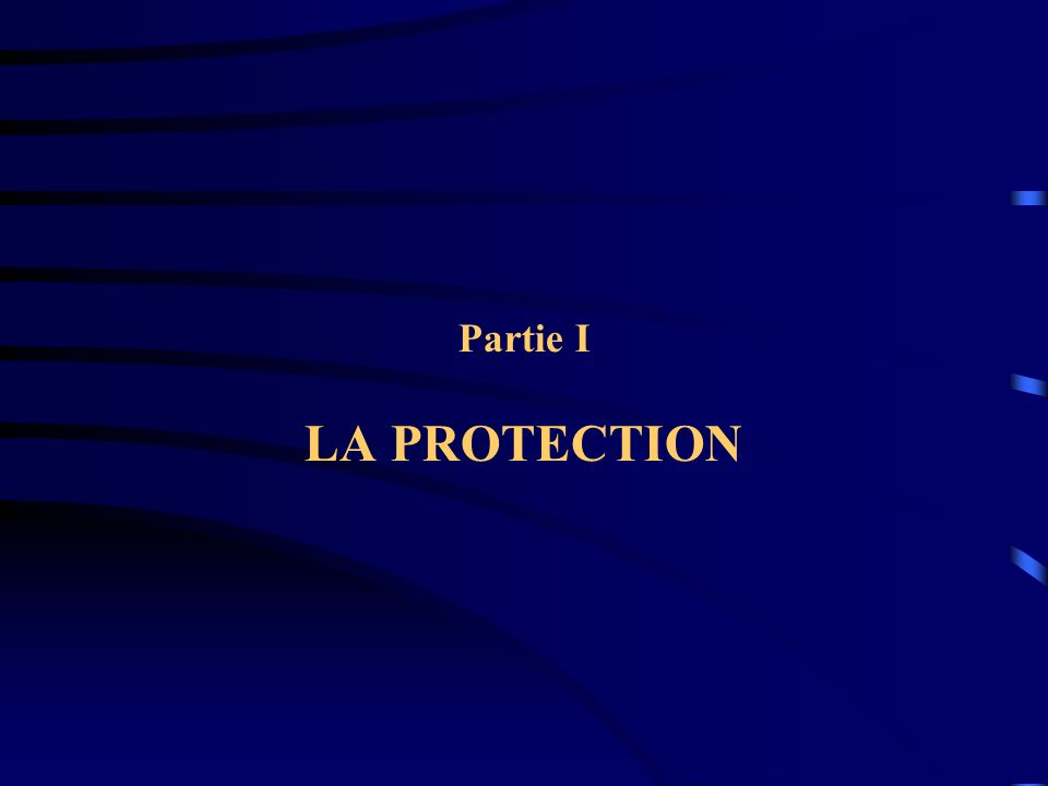 Partie I LA PROTECTION