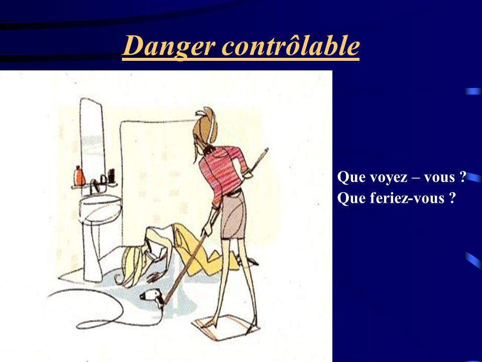 Danger contrôlable Que voyez – vous Que feriez-vous