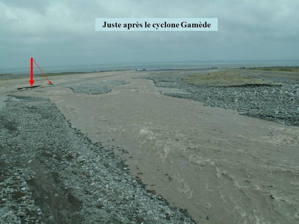 Juste après le cyclone Gamède