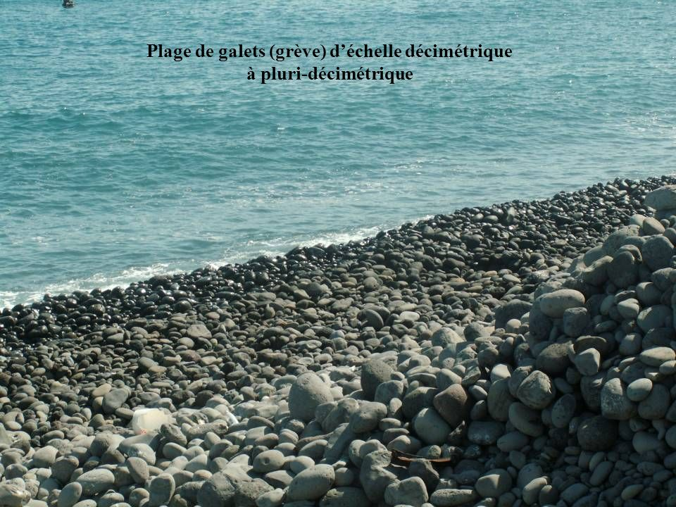 Plage de galets (grève) d'échelle décimétrique à pluri-décimétrique