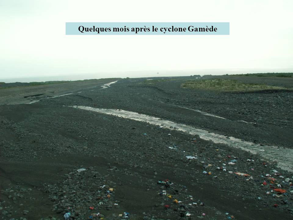 Quelques mois après le cyclone Gamède