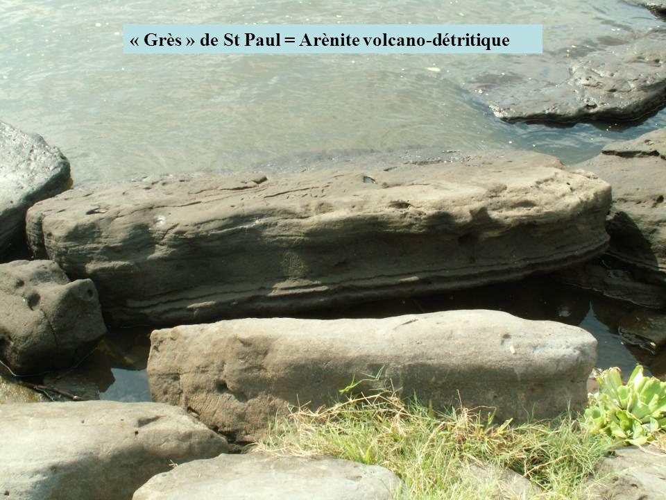 « Grès » de St Paul = Arènite volcano-détritique