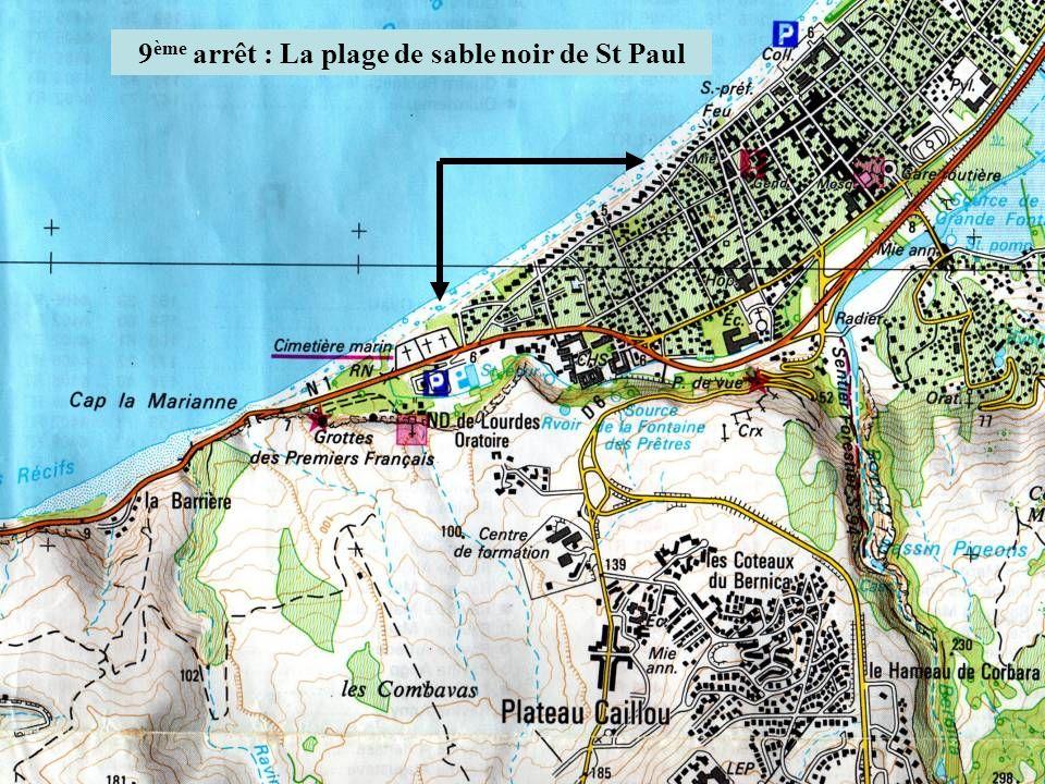 9ème arrêt : La plage de sable noir de St Paul