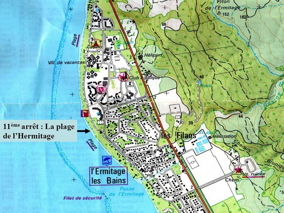 11ème arrêt : La plage de l'Hermitage