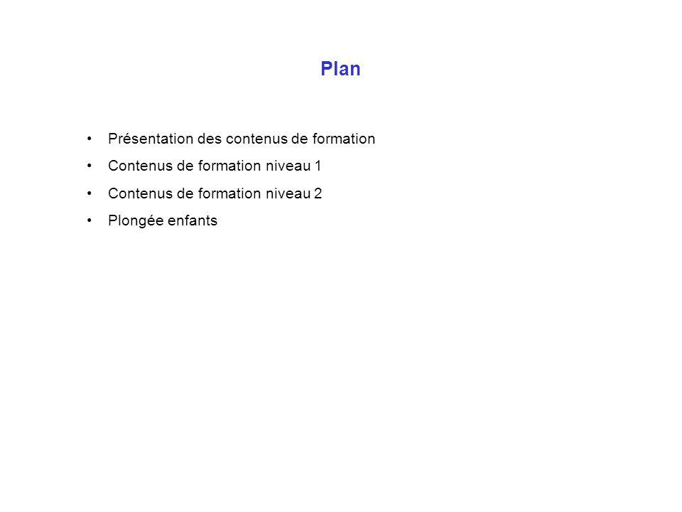 Plan Présentation des contenus de formation