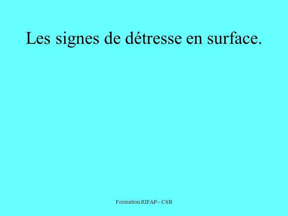 Les signes de détresse en surface.