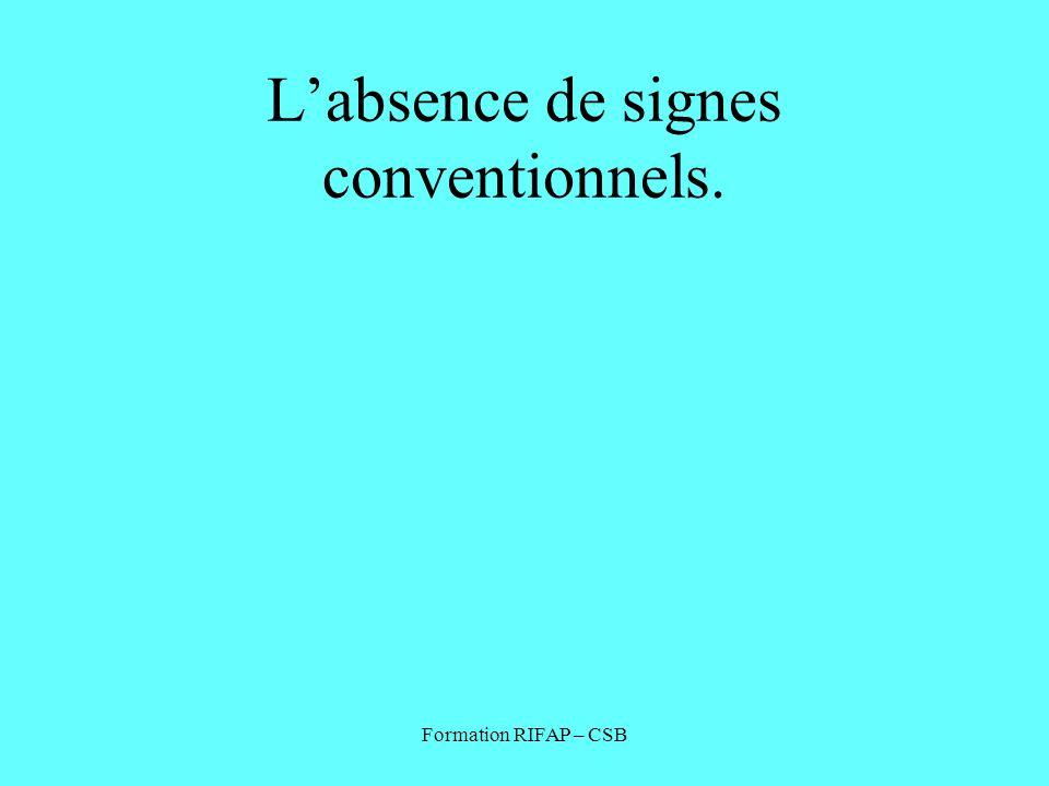 L'absence de signes conventionnels.