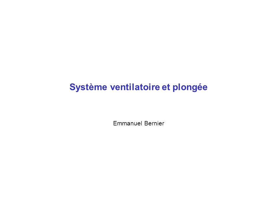 Système ventilatoire et plongée