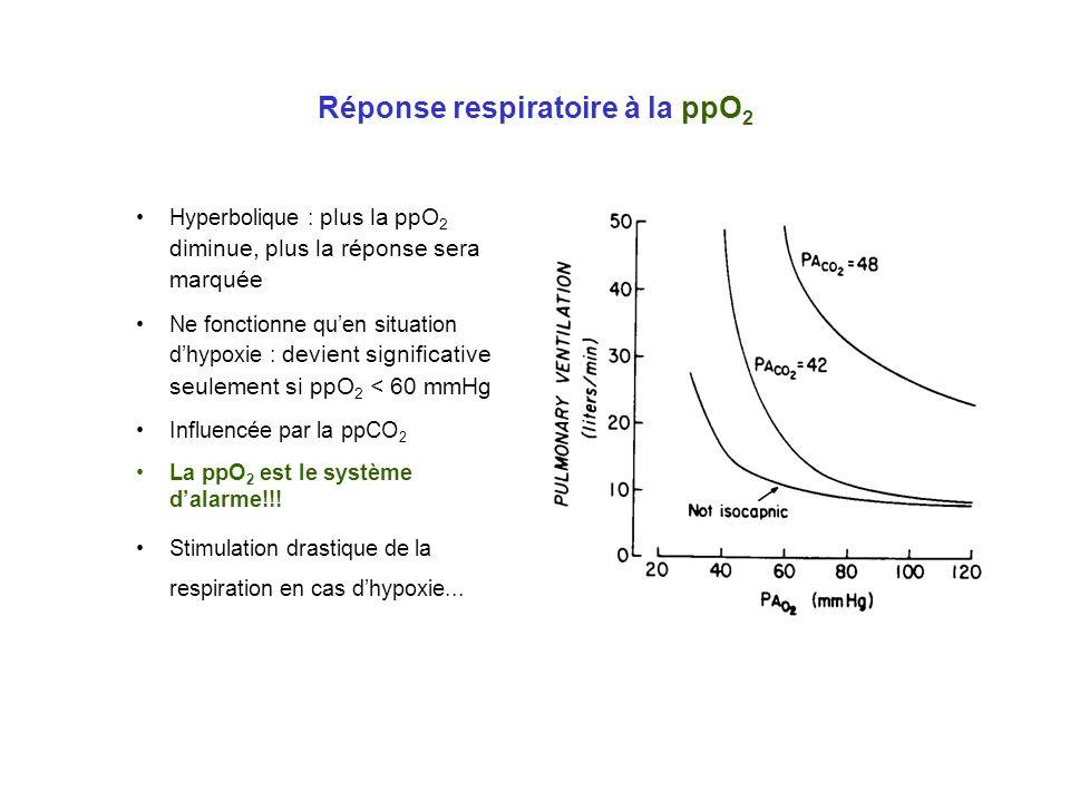 Réponse respiratoire à la ppO2