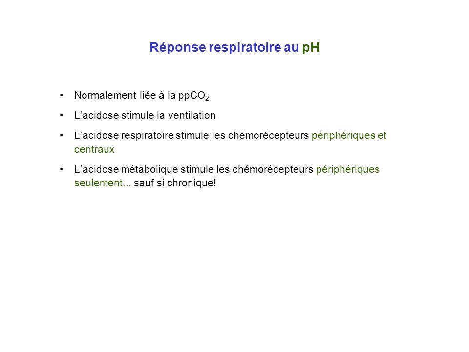 Réponse respiratoire au pH