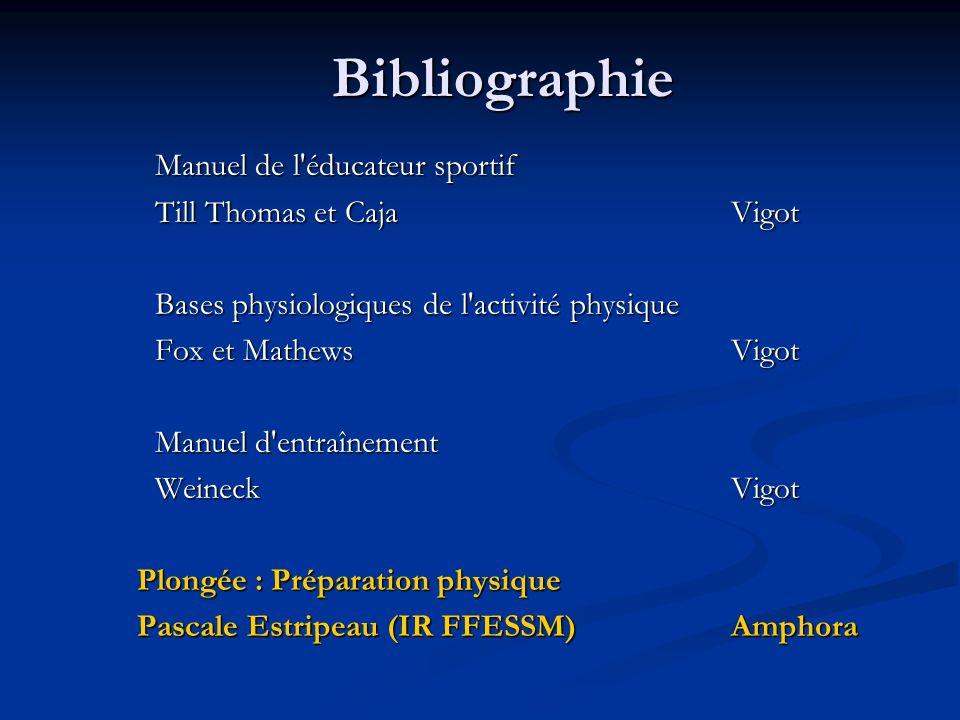 Bibliographie Manuel de l éducateur sportif Till Thomas et Caja Vigot