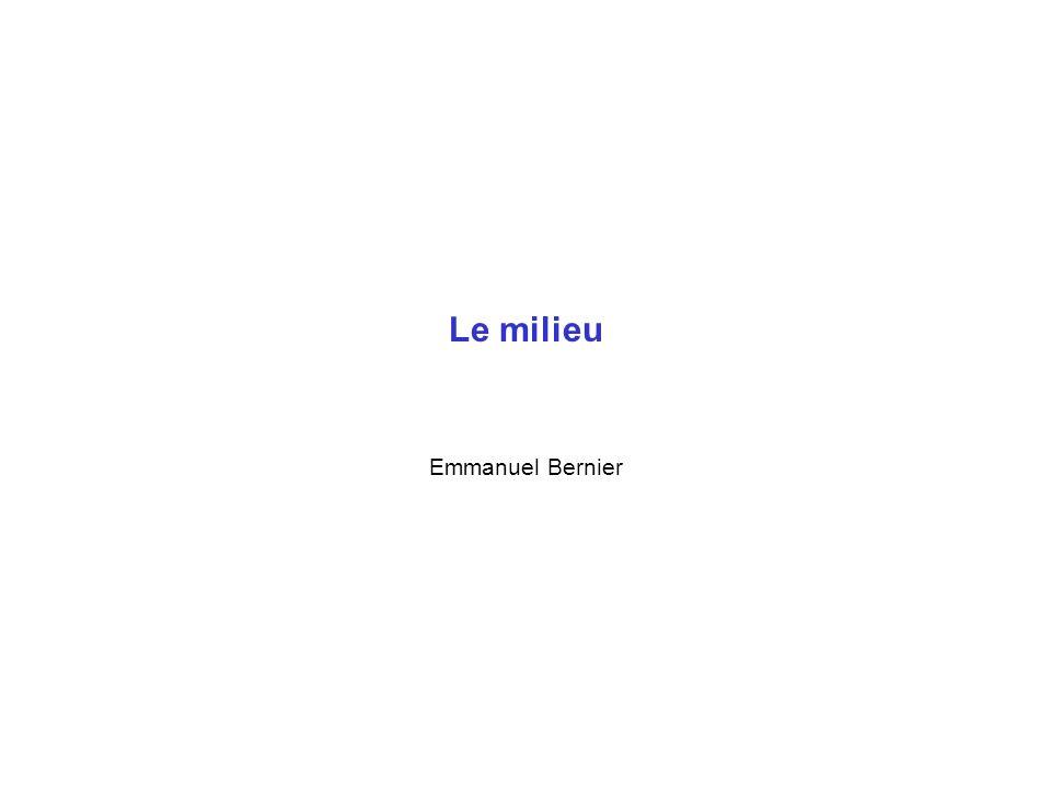 Le milieu Emmanuel Bernier