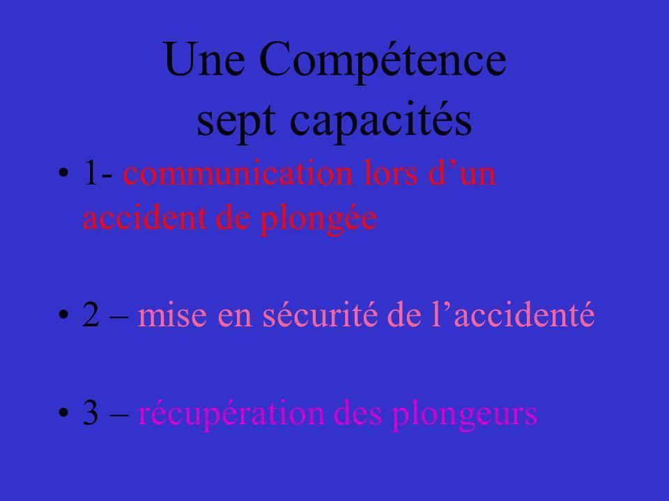 Une Compétence sept capacités