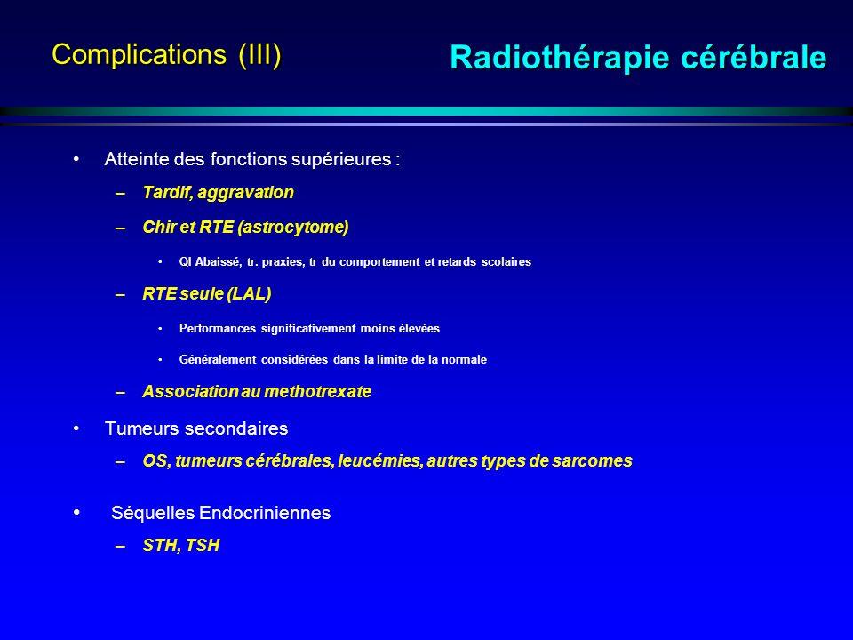 Radiothérapie cérébrale