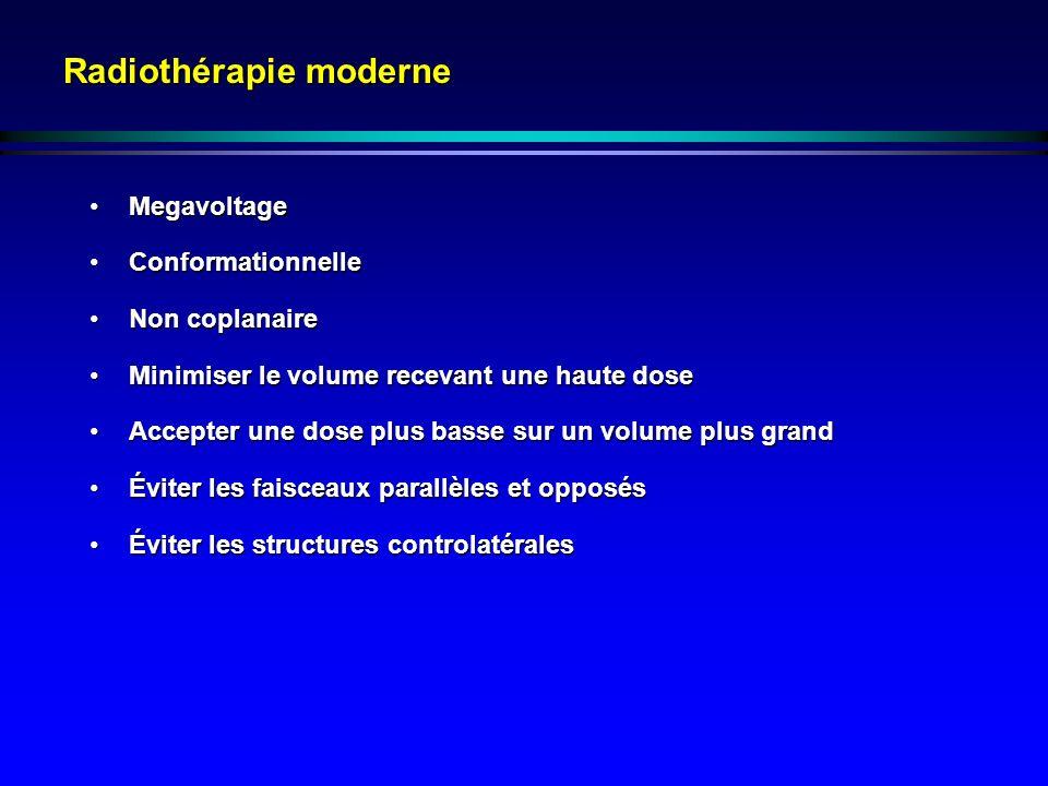 Radiothérapie moderne