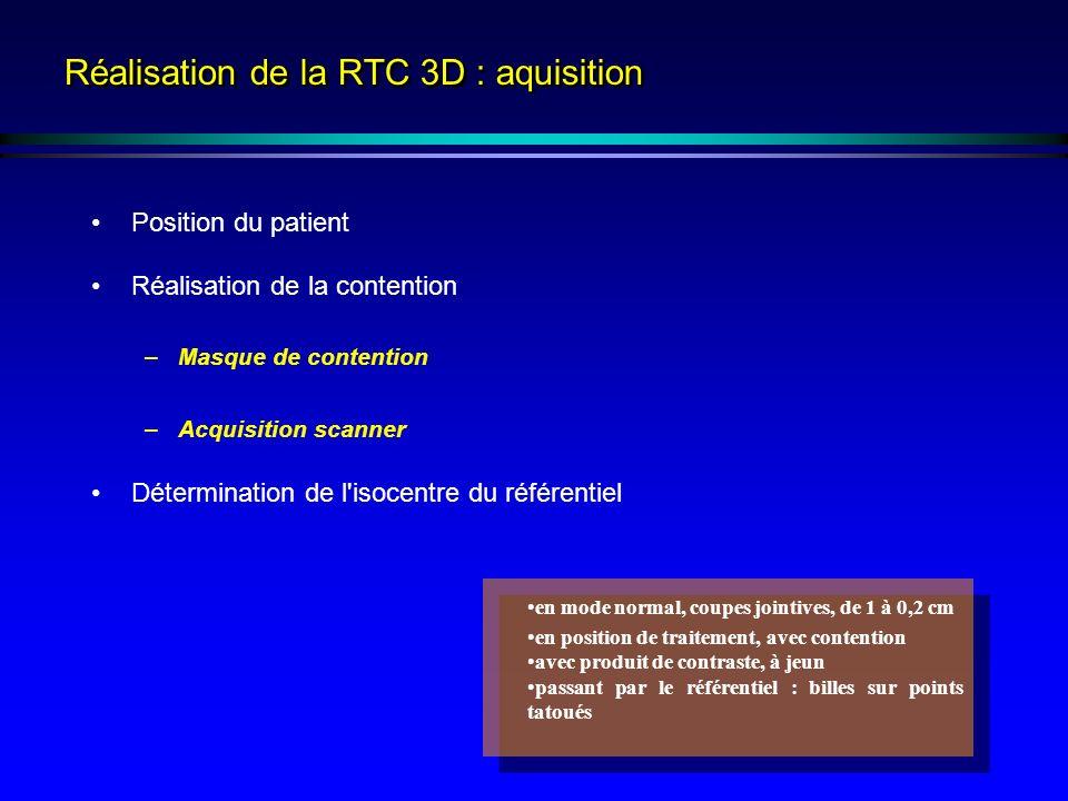 Réalisation de la RTC 3D : aquisition