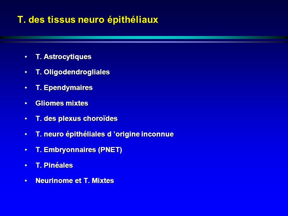 T. des tissus neuro épithéliaux