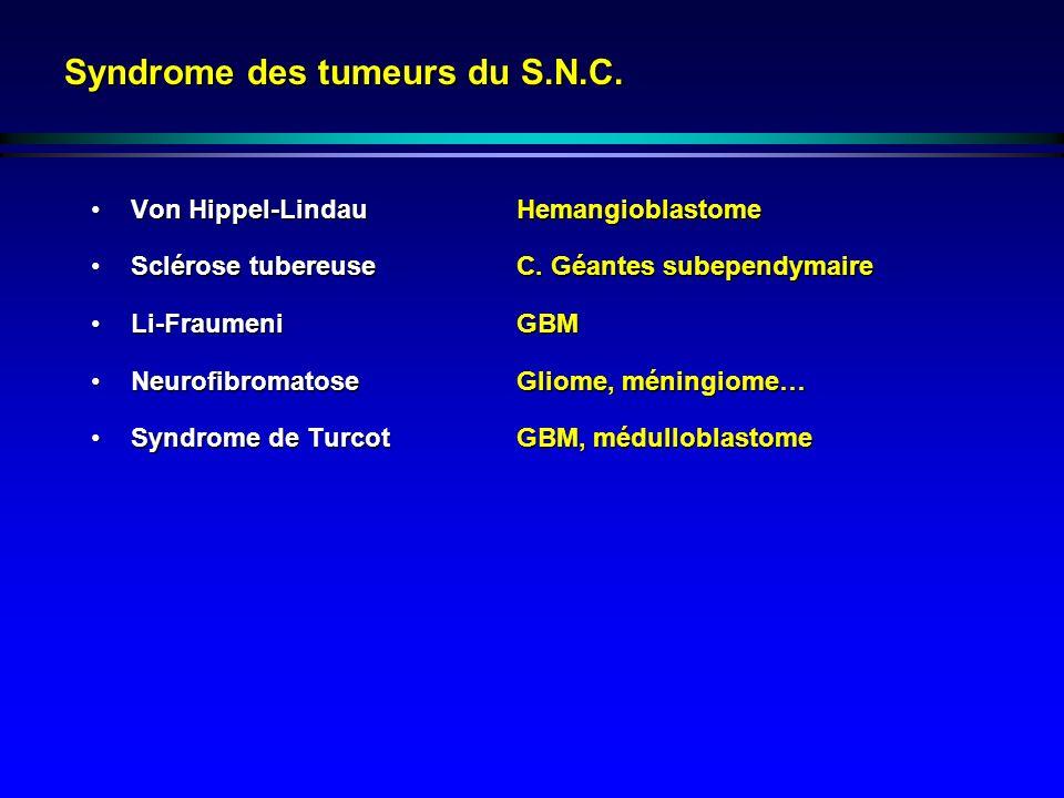 Syndrome des tumeurs du S.N.C.