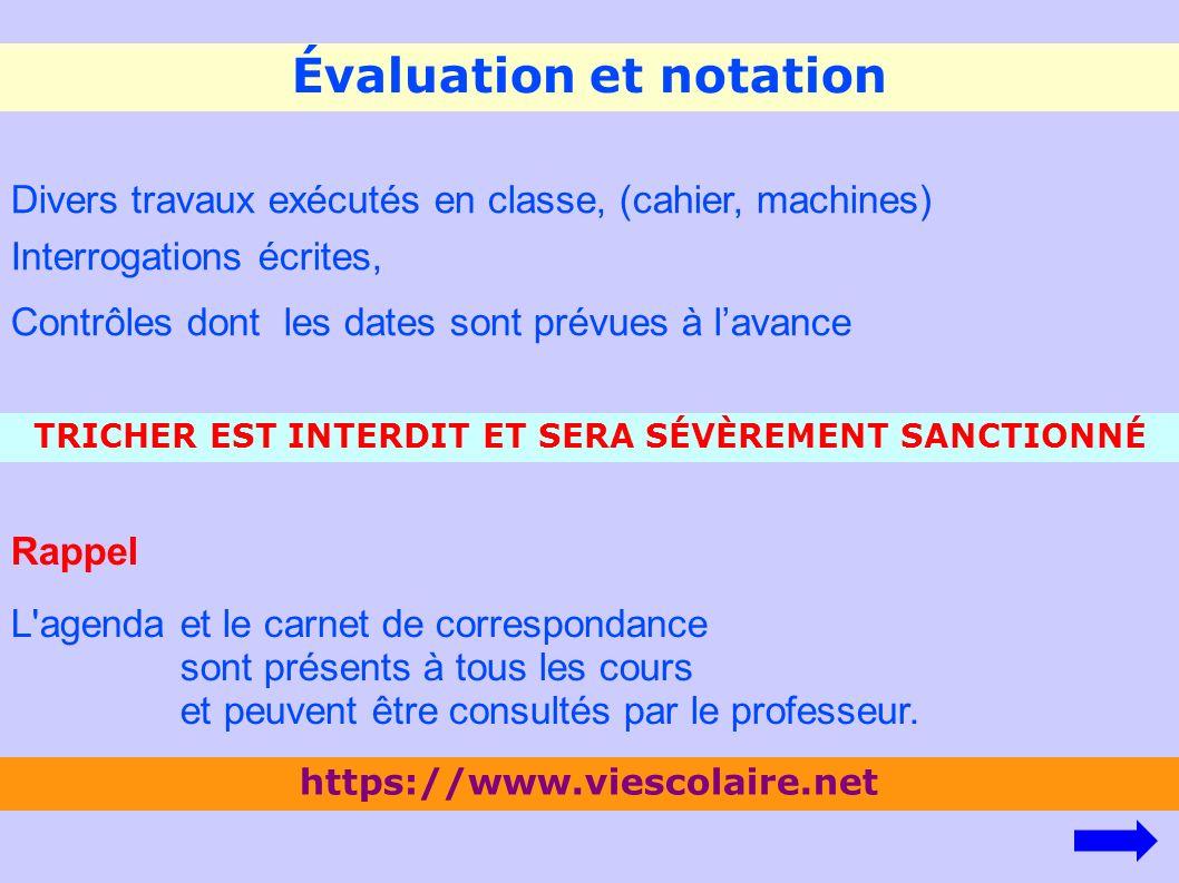 Évaluation et notation