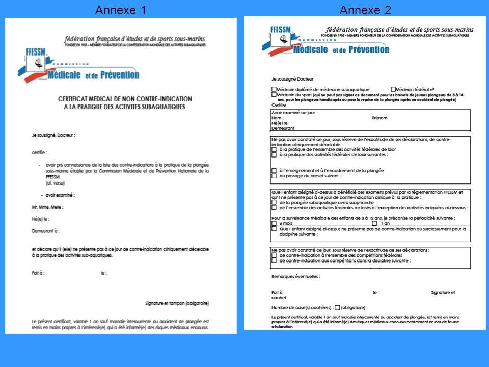 Annexe 1 Annexe 2