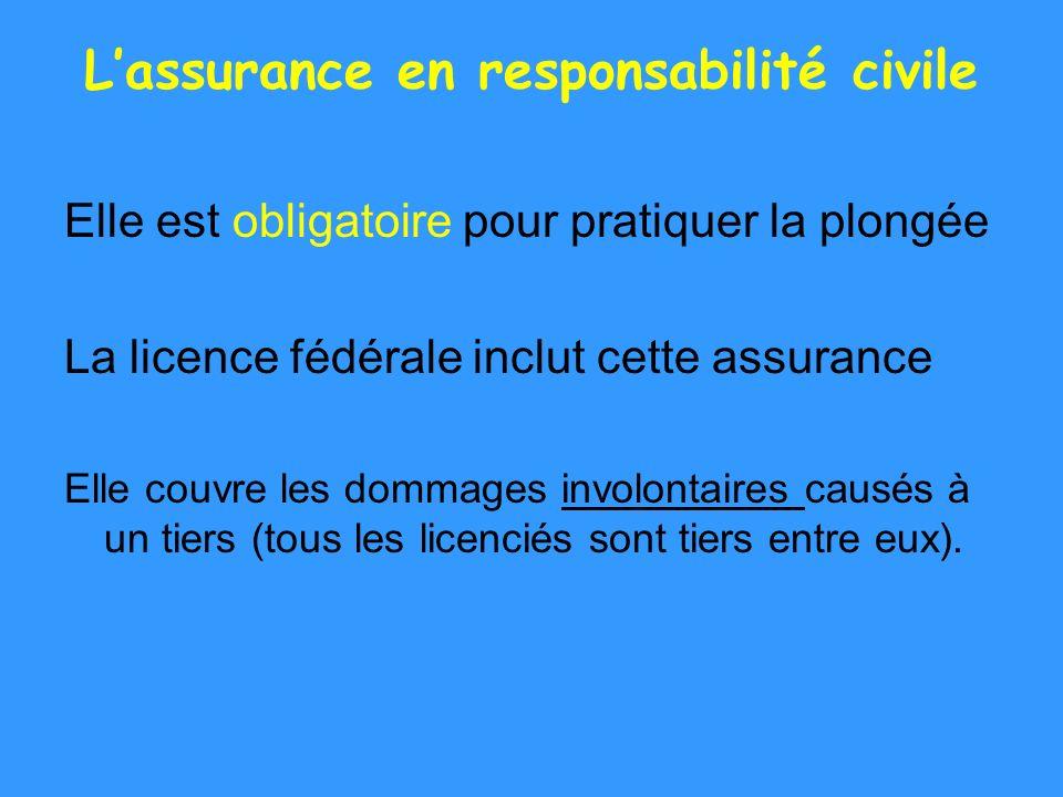 L'assurance en responsabilité civile