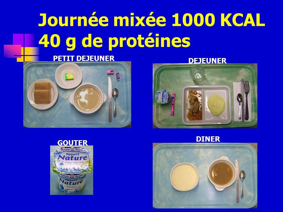 Journée mixée 1000 KCAL 40 g de protéines