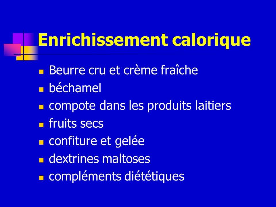 Enrichissement calorique