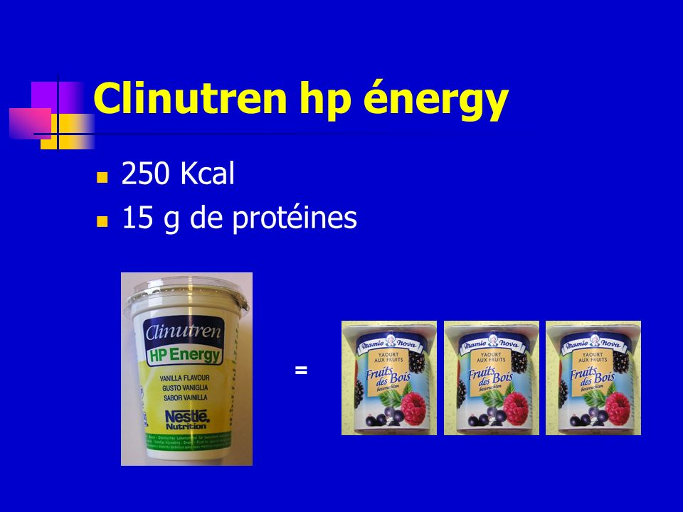 Clinutren hp énergy 250 Kcal 15 g de protéines =