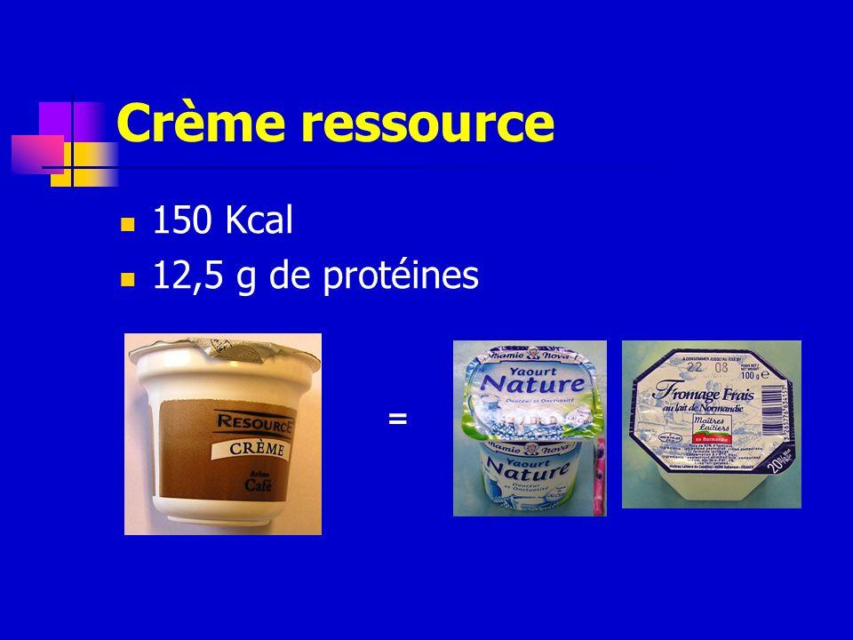 Crème ressource 150 Kcal 12,5 g de protéines =