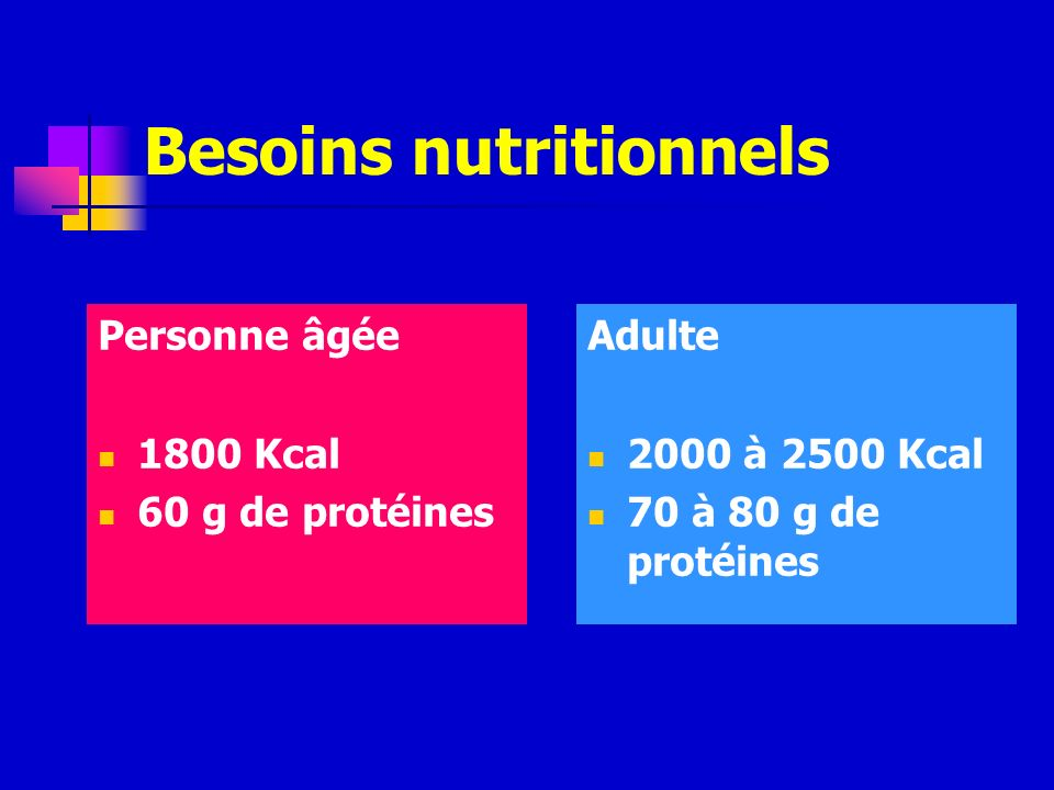 Besoins nutritionnels