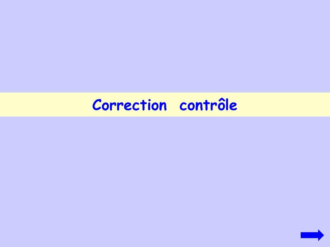 Correction contrôle