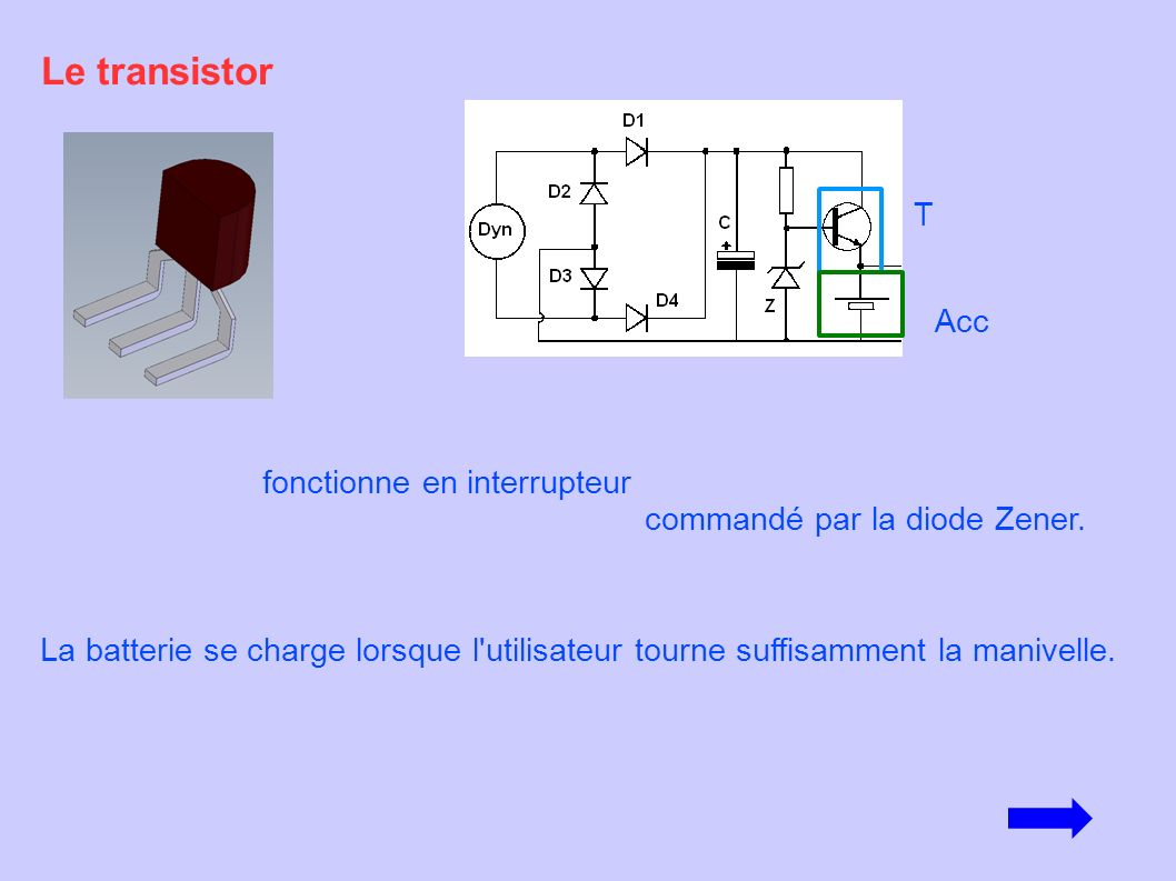 Fonctionnement de la lampe manivelle ppt video online for Le transistor