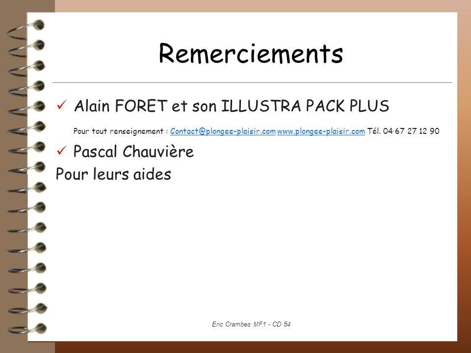 Remerciements Alain FORET et son ILLUSTRA PACK PLUS