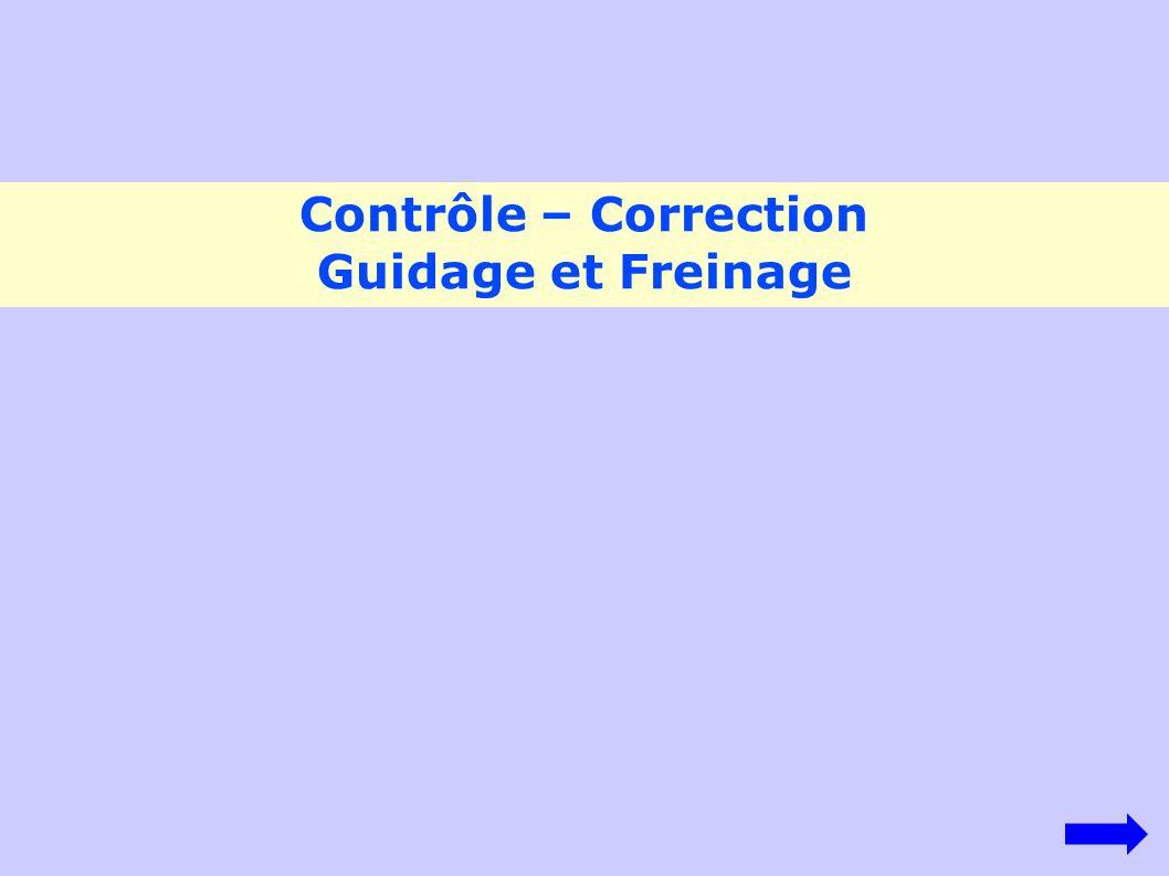 Contrôle – Correction Guidage et Freinage