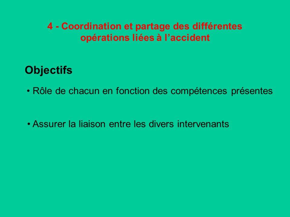 4 - Coordination et partage des différentes opérations liées à l'accident