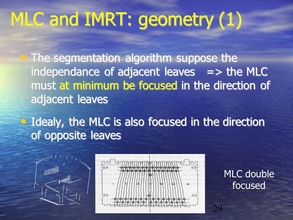 MLC and IMRT: geometry (1)