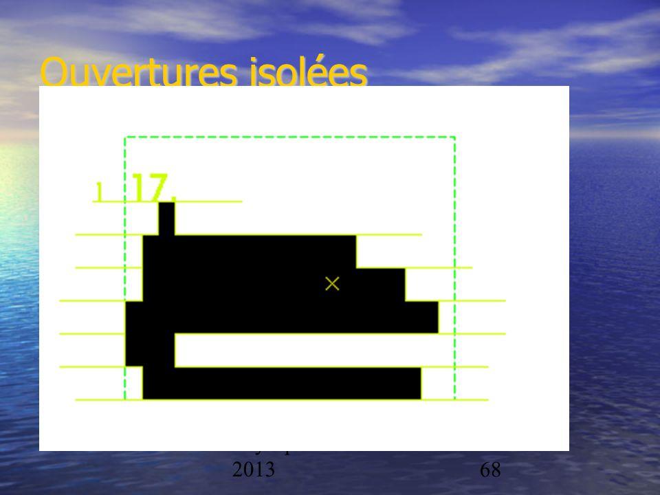 Ouvertures isolées Physique/CAL 2012-2013