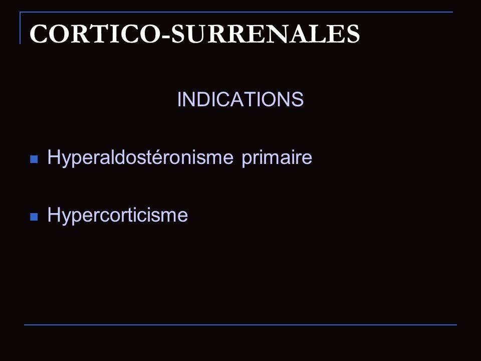 CORTICO-SURRENALES INDICATIONS Hyperaldostéronisme primaire