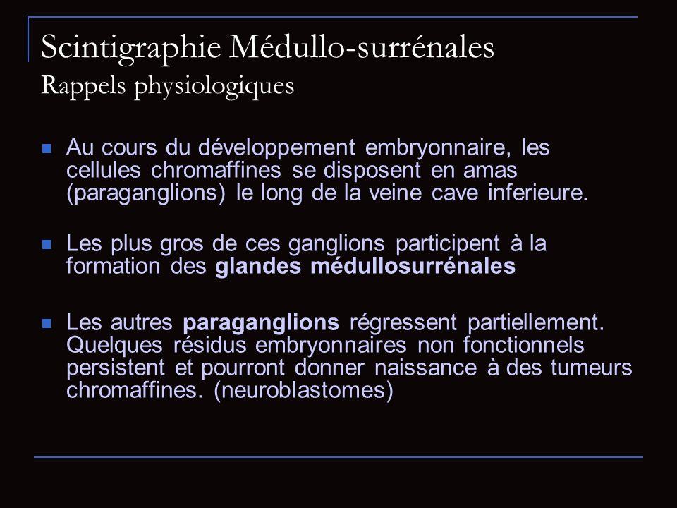 Scintigraphie Médullo-surrénales Rappels physiologiques