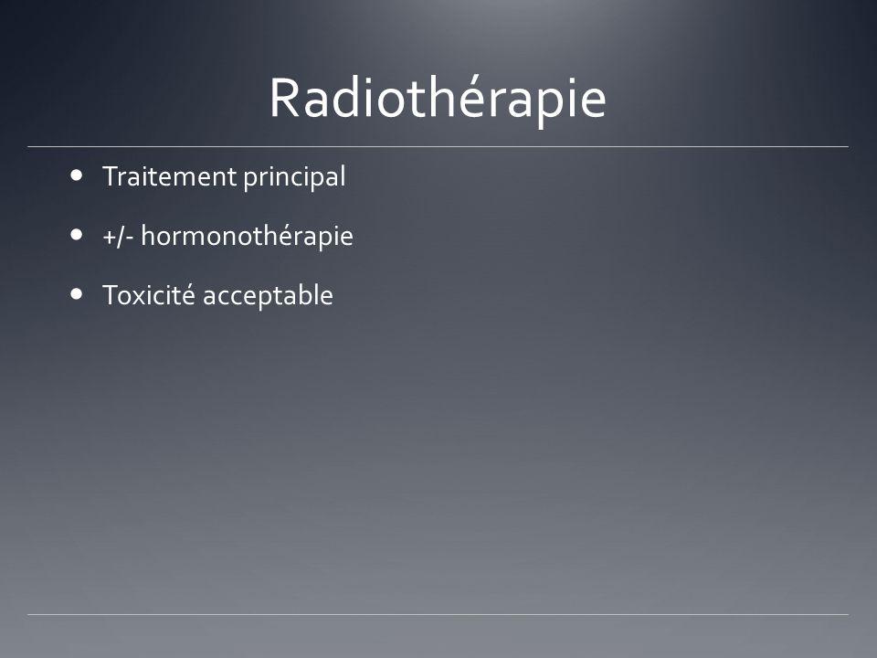 Radiothérapie Traitement principal +/- hormonothérapie