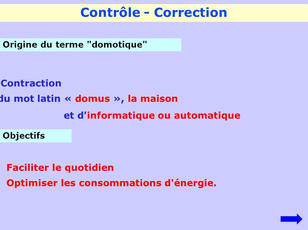 Contrôle - Correction Contraction du mot latin « domus », la maison