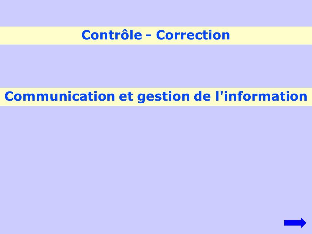 Communication et gestion de l information