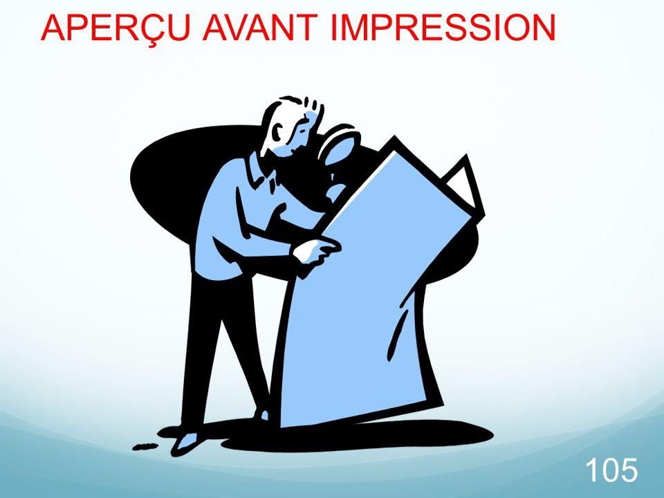 APERÇU AVANT IMPRESSION